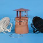 Chimney Cowl Bonnet Rain Guard - High Top