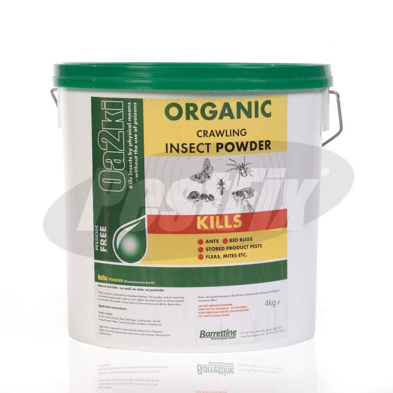 Oa2ki Organic Diatomaceous Earth Flea Powder 163 8 35