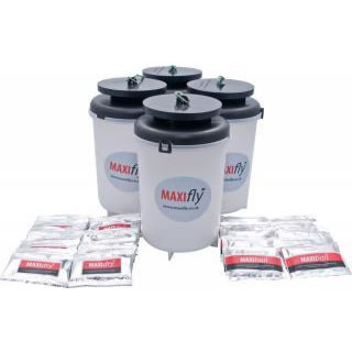 Maxifly Fly Trap Including 2 x Maxifly Bait and 2 x Maxidry Sachets