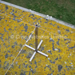 Non Piercing Flat Roof Mount 500mm and 1000mm - Stainless Steel