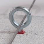 Screw Eye 45mm Masonry Intermediate Fixing X 100