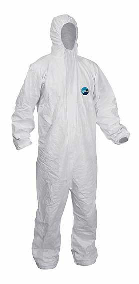Disposable Dupont Tyvek Classic Hooded Suit - XL - Model CHF5